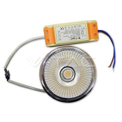 Żarówka LED V-TAC AR111 20W 230V 20st COB z zasilaczem 1800lm VT-1120 6000K 1500lm
