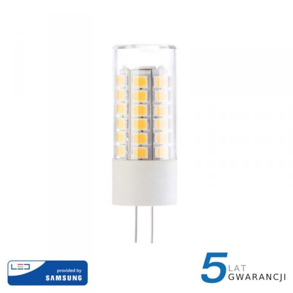 Żarówka LED V-TAC SAMSUNG CHIP 3.2W G4 12V VT-234 3000K 385lm 5 Lat Gwarancji