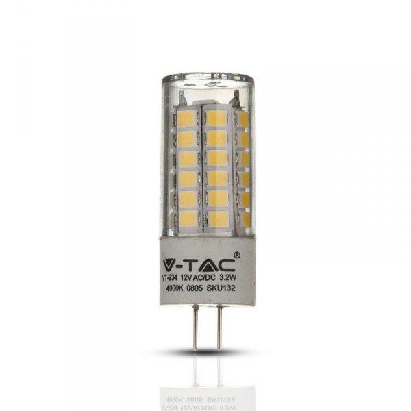 Żarówka LED V-TAC SAMSUNG CHIP 3.2W G4 12V VT-234 4000K 385lm 5 Lat Gwarancji