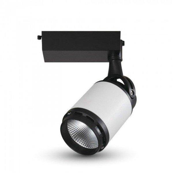 Oprawa Track Light LED V-TAC 25W 24st Czarny Biały VT-4528 4000K 2100lm