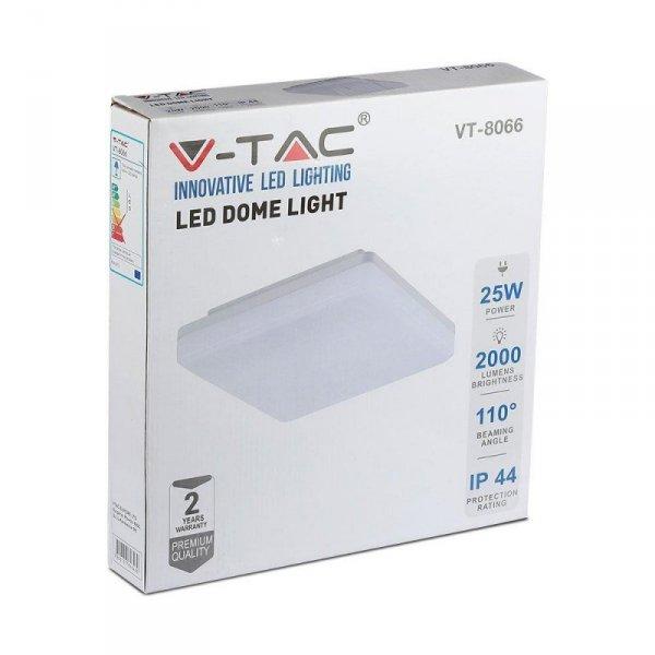 Plafon V-TAC 25W Sufitowy Light Kwadrat VT-8066 3000K 2000lm