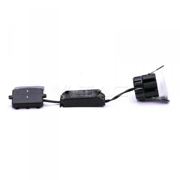 Oprawa LED V-TAC 10W Biała Bluetooth Soczewka CCT Ściemnialna IP65 VT-7710D 2700K-6500K 850lm 5 Lat Gwarancji