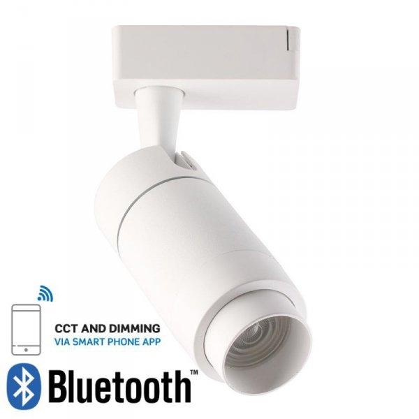 Oprawa LED V-TAC 15W Track Light Biała Bluetooth Control 3w1 16-53st VT-7715 2800K 650lm