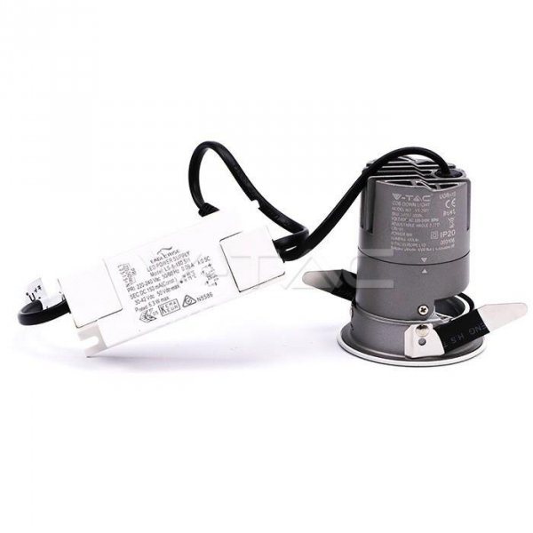 Oprawa LED Downlight V-TAC 6W COB CREE CRI95+ UGR19 24st VT-2907 3000K 400lm 5 Lat Gwarancji