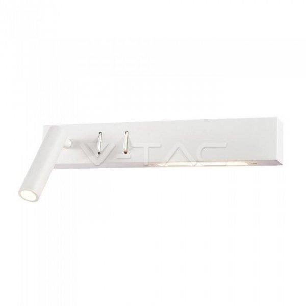 Oprawa LED V-TAC 3W+6W Kinkiet Hotel Łóżko Biały VT-2953 3000K 680lm 3 Lata Gwarancji