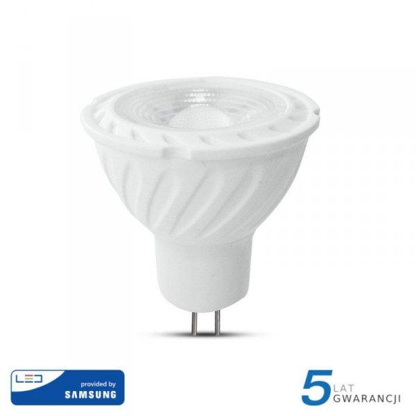 Żarówka LED V-TAC SAMSUNG CHIP 6.5W GU5.3 MR16 12V 38st VT-267 4000K 450lm 5 Lat Gwarancji