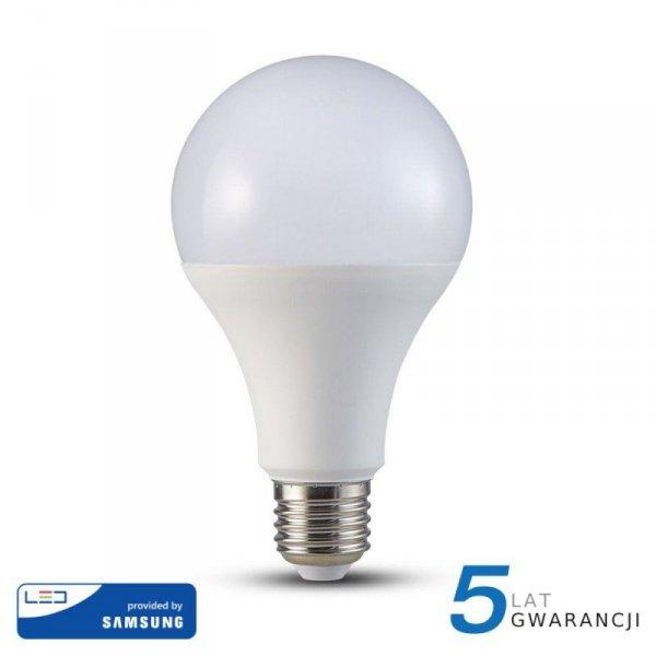 Żarówka LED V-TAC SAMSUNG CHIP 20W E27 A80 VT-233 6400K 2452lm 5 Lat Gwarancji