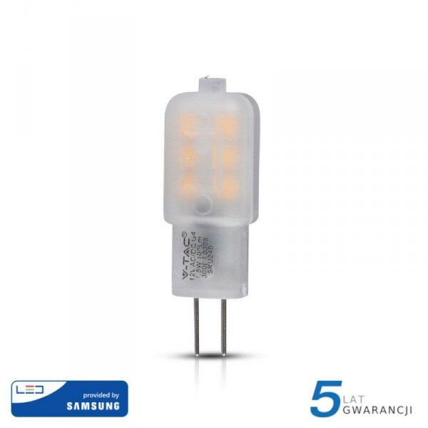 Żarówka LED V-TAC SAMSUNG CHIP 1.5W G4 VT-201 3000K 100lm 5 Lat Gwarancji