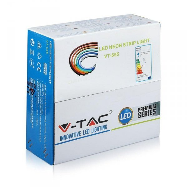 Neon Flex 24V 10mb 8W/m V-TAC VT-555 Niebieski 320lm