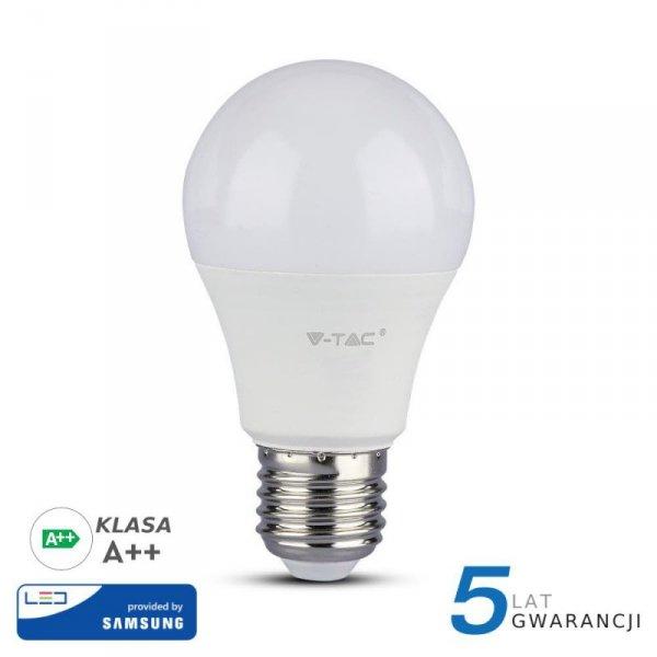 Żarówka LED V-TAC SAMSUNG CHIP 6.5W E27 A++ A60 VT-265 3000K 806lm 5 Lat Gwarancji