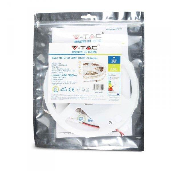 Taśma LED V-TAC S-Shape Zig Zag do zakrętów SMD2835 300LED 12V IP20 VT-2835-60-S 6400K 300lm