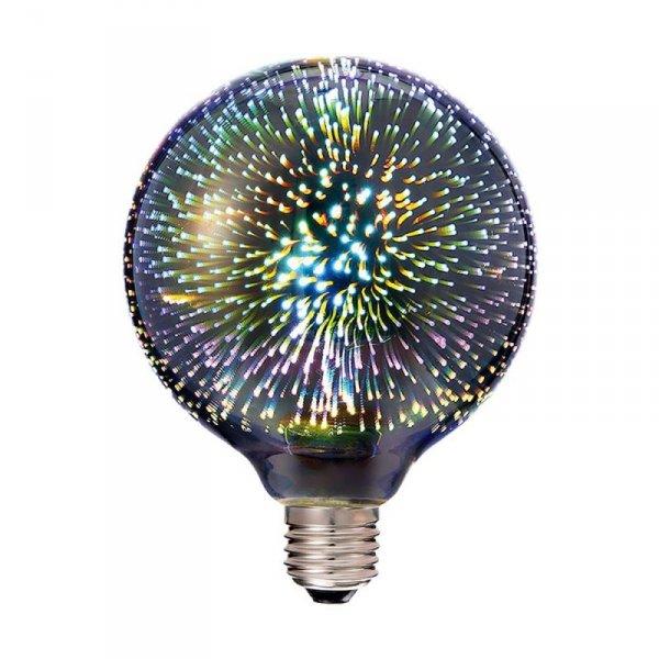 Żarówka LED V-TAC 3W E27 Filament 3D G125 VT-2233 3000K 40lm