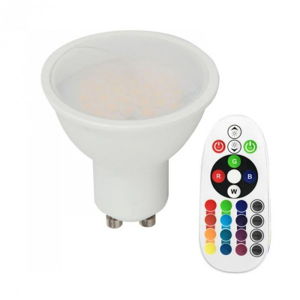 Żarówka LED V-TAC 3.5W GU10 Pilot VT-2244 6400K+RGB 300lm