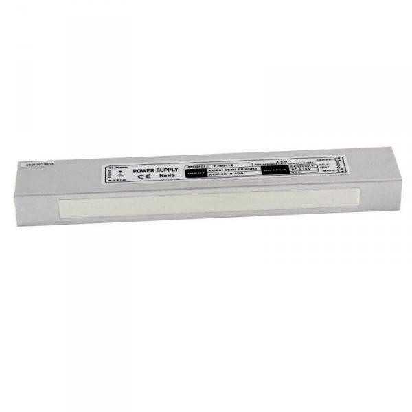Zasilacz LED V-TAC 45W 12V 3,75A Metalowy Hermetyczny IP65 VT-22050