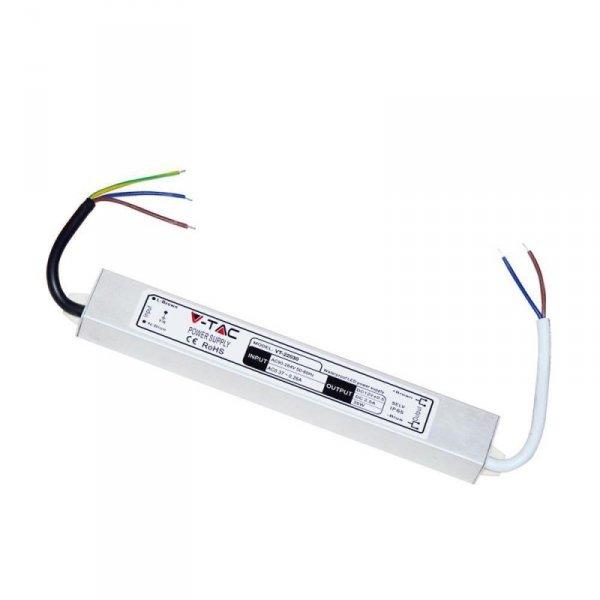 Zasilacz LED V-TAC 30W 12V 2,5A Metalowy Hermetyczny IP65 VT-22030