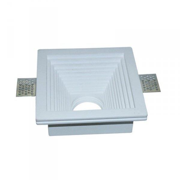 Oprawa Oczko V-TAC GIPS GU10 Kwadrat Wpuszczana G-K 120x120 Biały VT-867 5 Lat Gwarancji