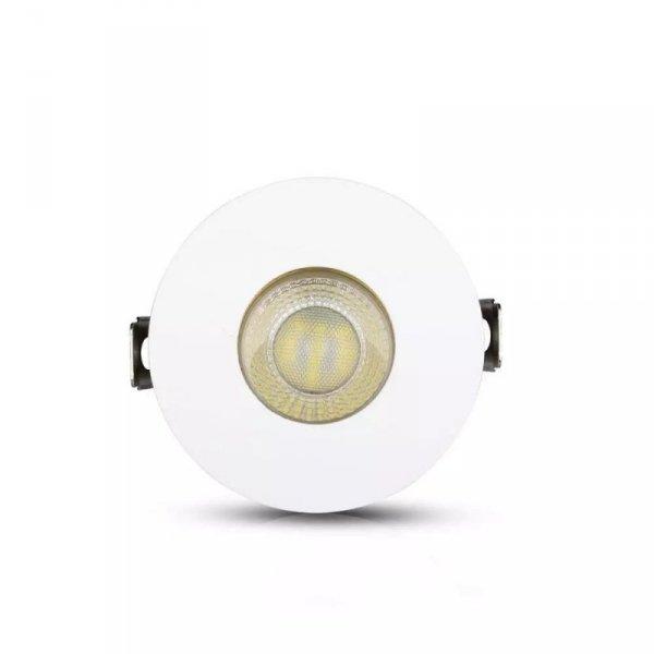 Oprawa Oczko V-TAC GU10 Wpuszczana Biały/Złoty Okrągła VT-873