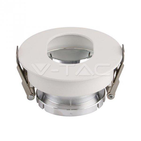 Oprawa Oczko V-TAC GU10 Asymetryczna Wpuszczana Biały/Chrom Okrągła VT-874 3 Lata Gwarancji