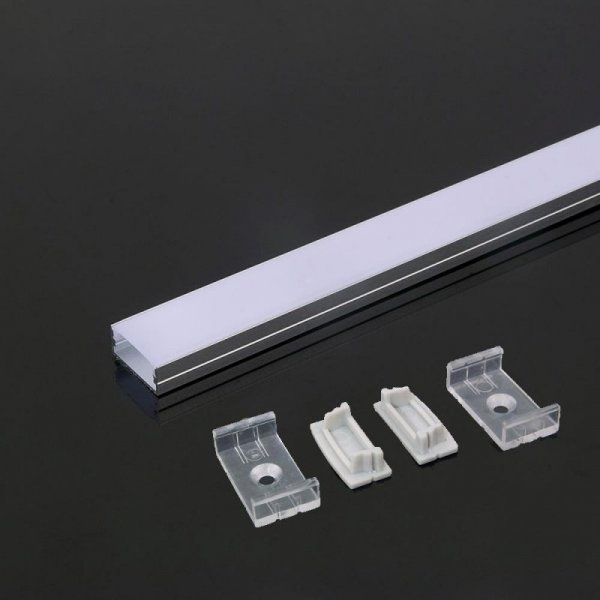 Profil Aluminiowy V-TAC 2000x23.5x10mm Klosz Mleczny VT-8108