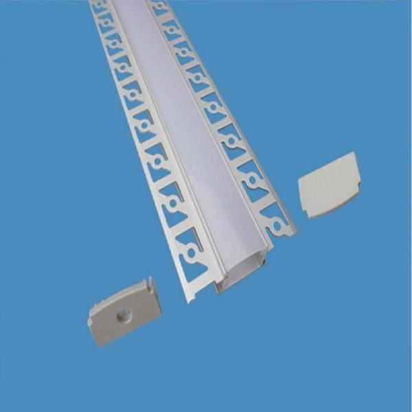 Profil Aluminiowy V-TAC Klosz Mleczny, Do gipsowania Szeroki 2000mm VT-8101