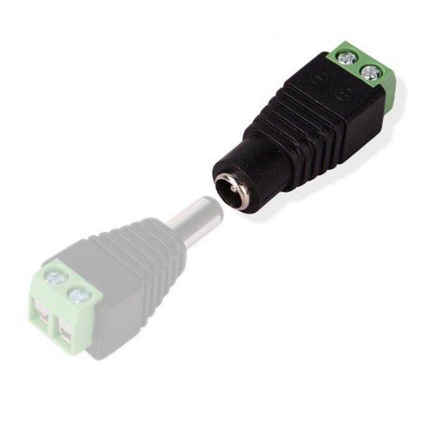 Konektor Złączka Taśm LED V-TAC Żeńska bez przewodu DC plug&play