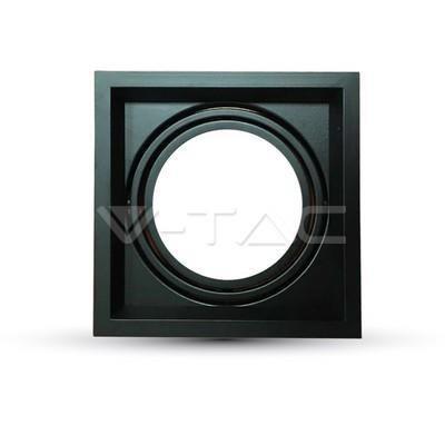 Oprawa Sufitowa Wpuszczana 1xAR111 G53 Czarna V-TAC VT-7221
