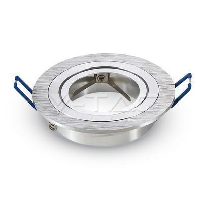Oprawa Oczko V-TAC Aluminiowa Odlew 1xGU10 Okrągła Aluminium Szczotkowane VT-782