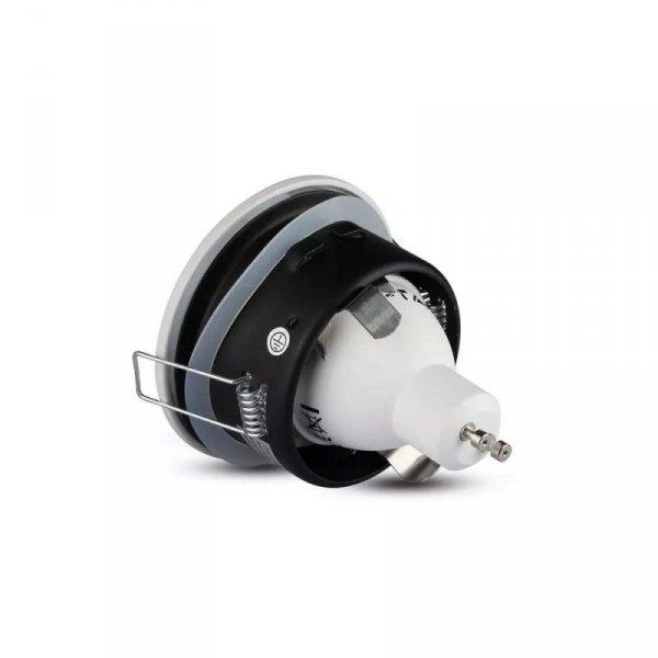 Oprawa Oczko V-TAC Aluminiowa Odlew Hermetyczne z szybką IP54 GU10 Okrągłe fi84 Biały VT-787