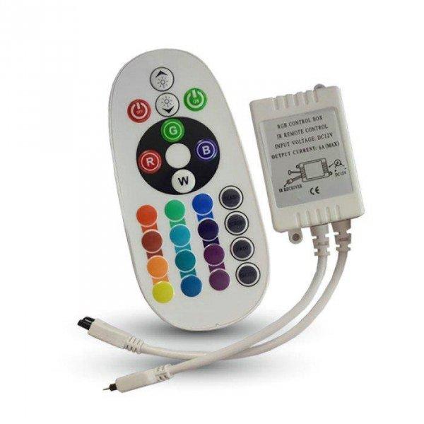 Sterownik Taśm LED RGB 72W Podczerwień 24 Przyciski V-TAC VT-2472