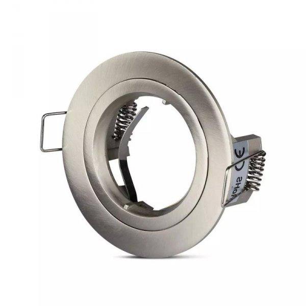 Oprawa Oczko V-TAC Aluminiowa Odlew GU10 Okrągła Satyna VT-774
