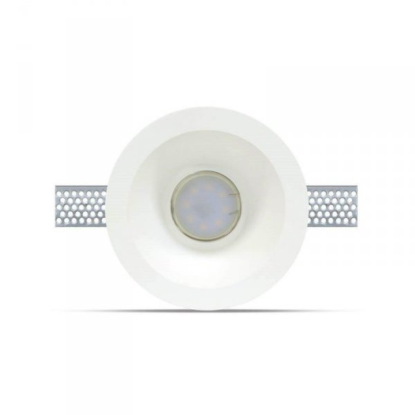 Oprawa Oczko V-TAC GIPS GU10 Wpuszczana Okrągła fi.132 Biały VT-773