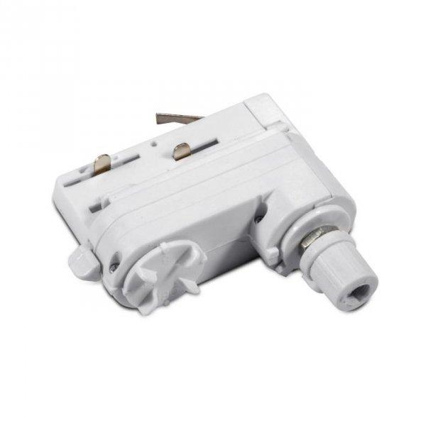 Adaptor Szynoprzewodu V-TAC Track Light 3 fazowy Biały