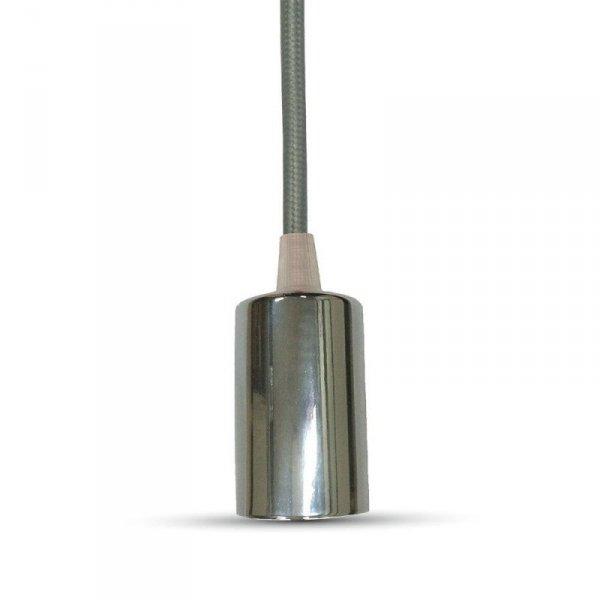 Oprawa Wisząca V-TAC Chrom Metal Szary przewód VT-7338 5 Lat Gwarancji