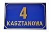 Tabliczka adresowa 30 cm x 20 cm (tłoczona)