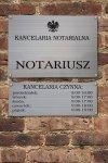 Tablica notariusz 50/35cm