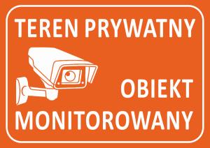 Tablica teren prywatny 21/14,8cm (odblask)