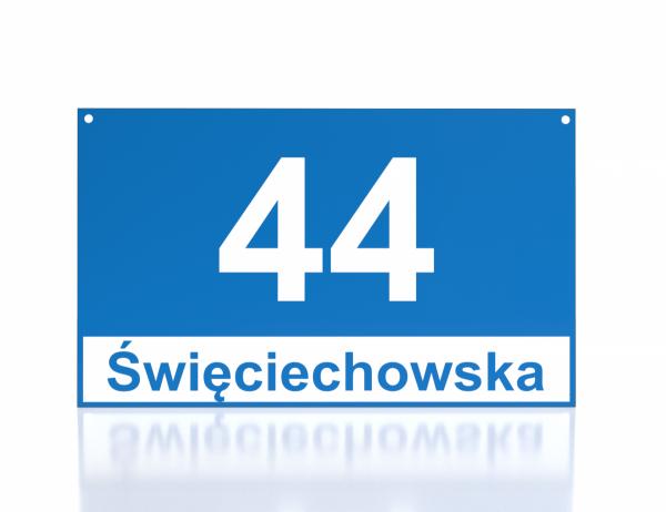 Tabliczka adresowa Leszno 30/18cm
