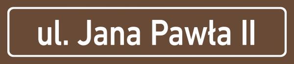 Tablica z nazwą ulicy 75/16,5cm