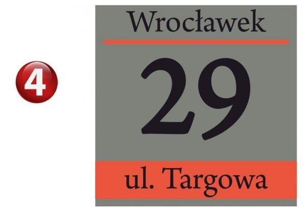 Tablica z numerem domu 25/25cm (odblask)