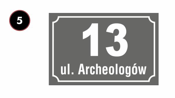 Tablica adresowa z numerem