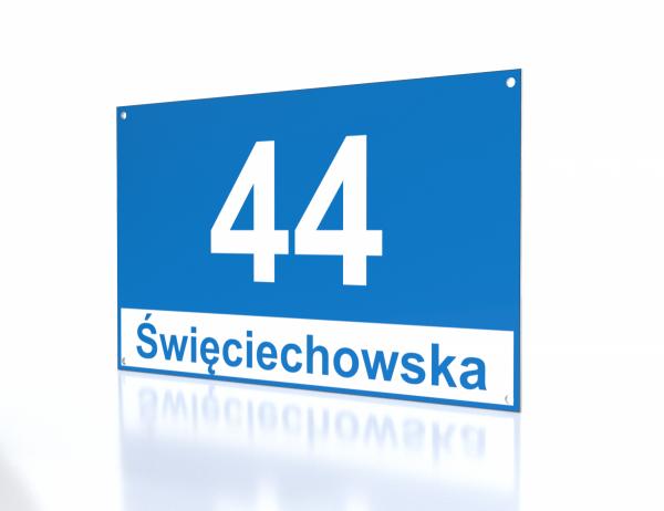 Tablica z numerem domu Leszno 30/18cm