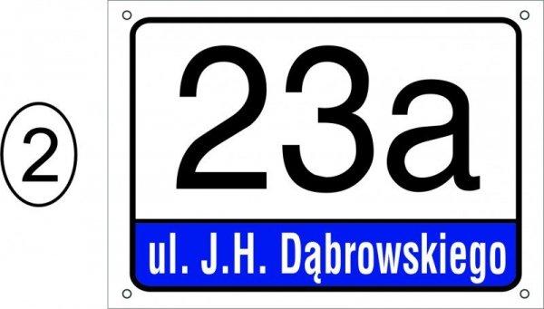Tabliczka adresowa 29,7 cm x 21 cm