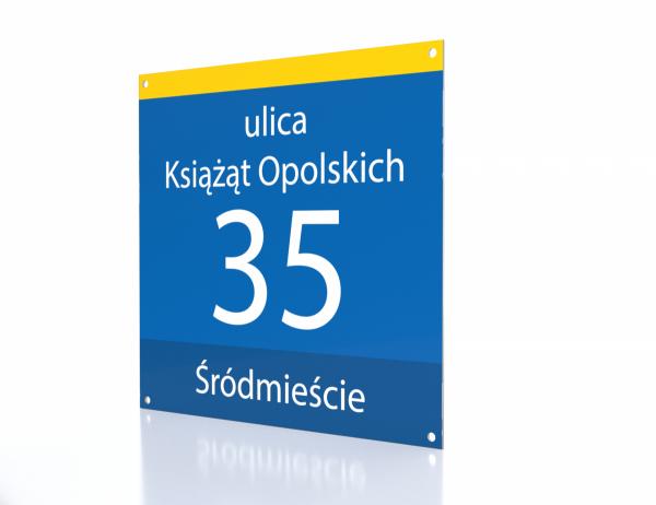 Tabliczka adresowa Opole 31/30cm
