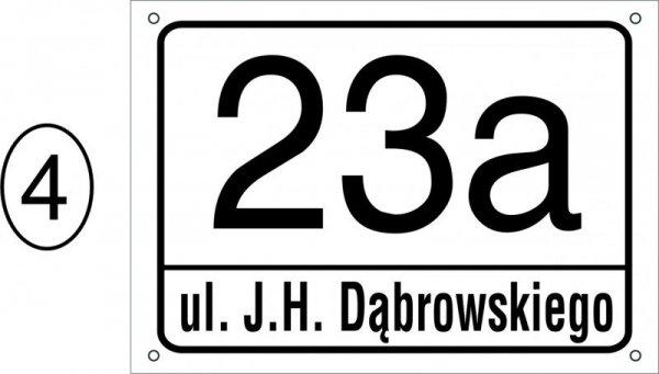 Tabliczka adresowa 29,7 cm x 21 cm (odblask)