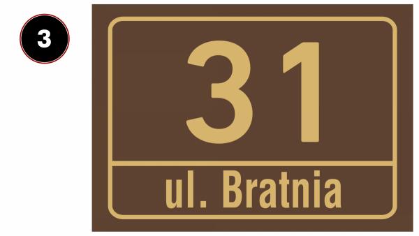 Tabliczka z numerem domu 29,7/21cm