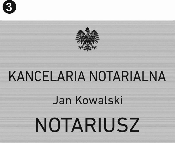 Tablica dla kancelarii notarialnej wzór 3
