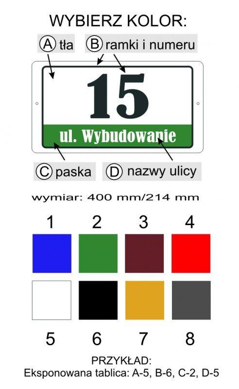Tabliczka adresowa 40 cm x 21,4 cm (odblask)