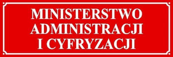 Tablica Ministerstwo Administracji i Cyfryzacji
