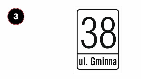 Tabliczka adresowa na dom