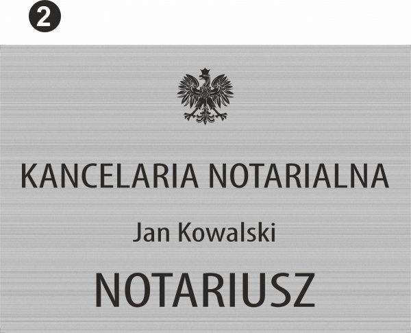 Tablica dla kancelarii notarialnej wzór 2